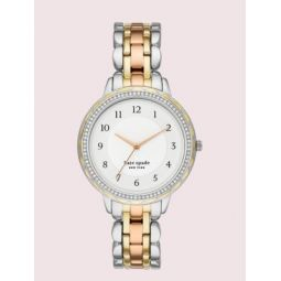 morningside scallop glitz tri-tone stainless steel watch