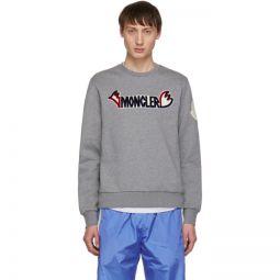 2 Moncler 1952 Grey Logo Sweatshirt