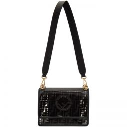 Transparent & Black Forever Fendi Kan I F Bag