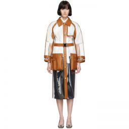 Transparent & Brown Long Trench Coat
