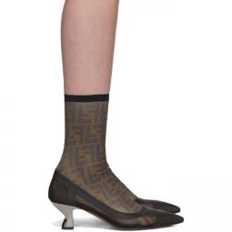 Black Mesh Forever Fendi ColibriSock Boots