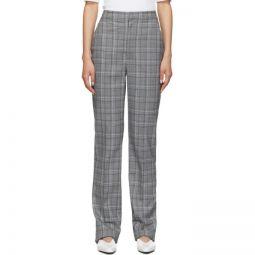 Grey Check James Menswear Sebastian Trousers