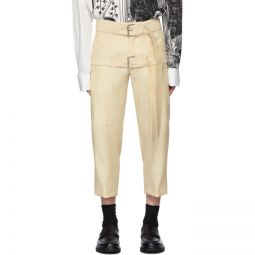 Off-White Cropped Double Belt Trousers