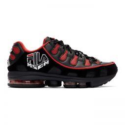 Black & Red Fila Edition Silva Trainer Sneakers