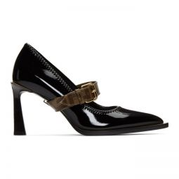 Black Glossy Mary Jane Heels