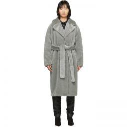 Grey Faux-Fur Oversized Luxe Coat