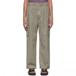 Taupe Pleated Cargo Pants