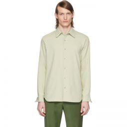 SSENSE Exclusive Green Chalky Drape Shirt