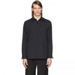 SSENSE Exclusive Black Chalky Drape Shirt
