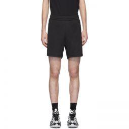 Black Panelled Track Shorts