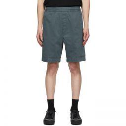 Green Cotton Twill Shorts