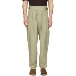 Khaki Ogeny Trench Trousers