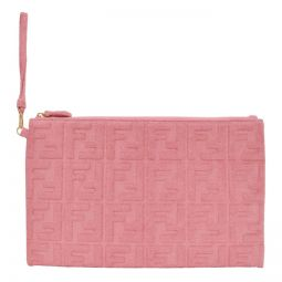 Pink Terrycloth Large Forever Fendi Pouch