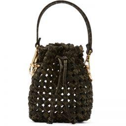Brown & Beige Mini Braided Mon Tresor Bag