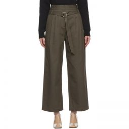Khaki Gabardine Stella Trousers