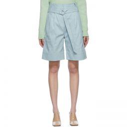 Blue Gabardine Stella Shorts