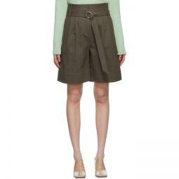 Khaki Gabardine Stella Shorts