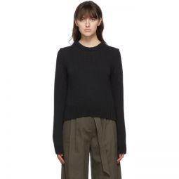 Black Yarn Shrunken Sweater