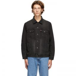 Black Denim Virgil Trucker Jacket