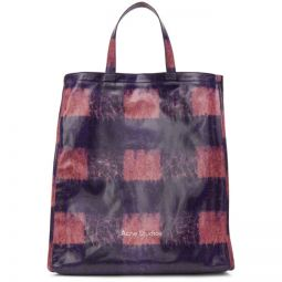 Pink & Blue Check Tote