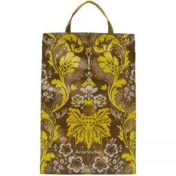 Brown & Yellow Floral Print Tote
