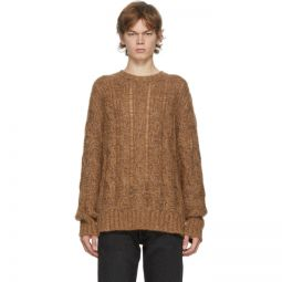 Brown & Burgundy Cable Knit Sweater