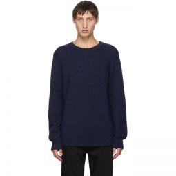 Navy Melange Ribbed Sweater