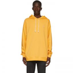 Yellow Oversized Patch Hoodie