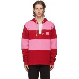 Red & Pink Rugby Hoodie