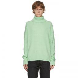 Green Wool & Cashmere Turtleneck