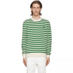 Green & White Breton Stripe Sweater