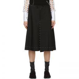 Black Striped Tailoring Shorts