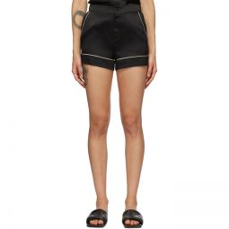 Black Silk Classic PJ Shorts