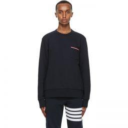 Navy Striped Pocket Sweatshirt