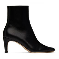 Black Leather Eva Boots