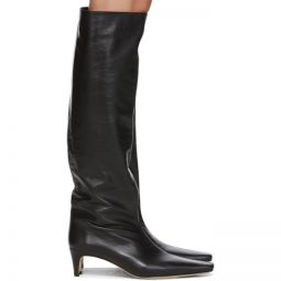 Black Leather Wally Boots
