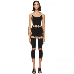 Black Nylon Unitard Bodysuit