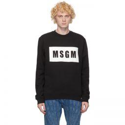 Black Logo Box Sweatshirt