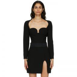 Black Wool Bustier Bodysuit