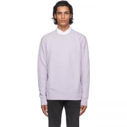Purple Relaxed Crewneck Sweatshirt
