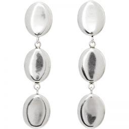 Silver Triple Oval Earrings