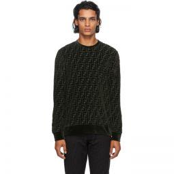 Green Velour Forever Fendi Sweatshirt