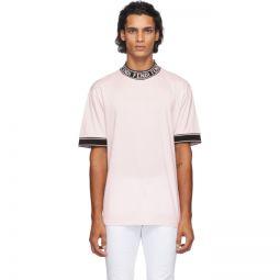 Pink Logo Collar T-Shirt