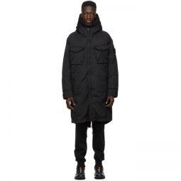 Black Down Wool Ghost Coat