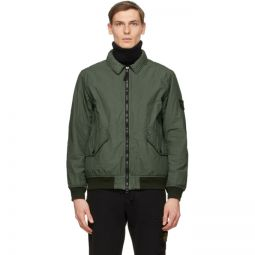 Green Insulated Nylon Jacket