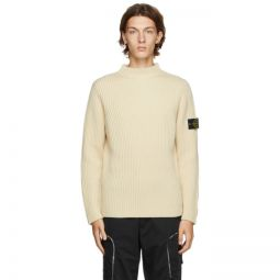 Off-White Wool Mock Neck Sweater