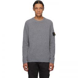 Grey Wool Crewneck Sweater