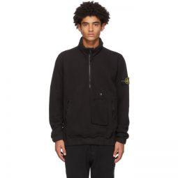 Black Half-Zip Sweatshirt
