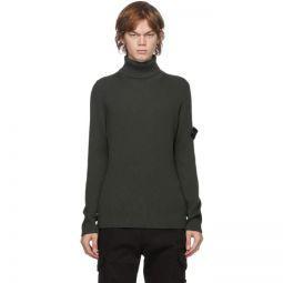 Green Rib Knit Turtleneck