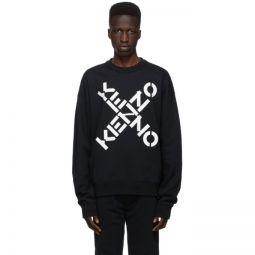 Black Sport Logo Sweatshirt